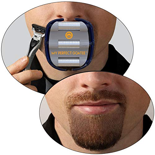MyPerfectGoatee : The #1 Original Goatee Shaving Template for Men – Fast, Easy & Flawless Goatee Shaving Result – Adjustable Guide to Fit for All Your Needs – Get a Symmetrical, Balanced Goatee Beard with Ease Note: Razor or Trimmer not included de GoateeSaver