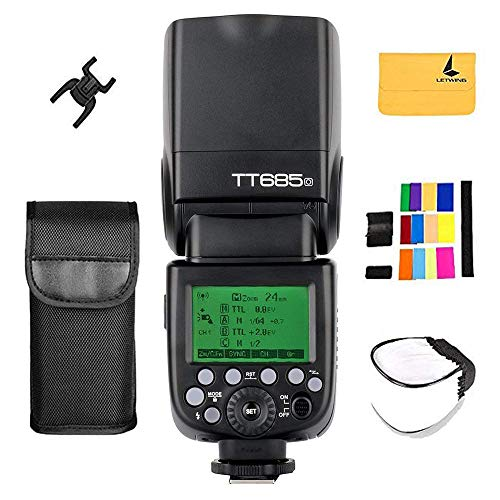 Godox TT685o TTL Flash HSS High Speed 1/8000s GN60 Camera Flash Speedlite Pour Olympus E-M10II E-M1 E-PL7 E-PL6 E-PL3 PEN-F Camera et Panasonic DMC-CX85 DMC-G7 DMC-GF1 DMC-LX100 DMC-G85 DSLR Camera de Godox