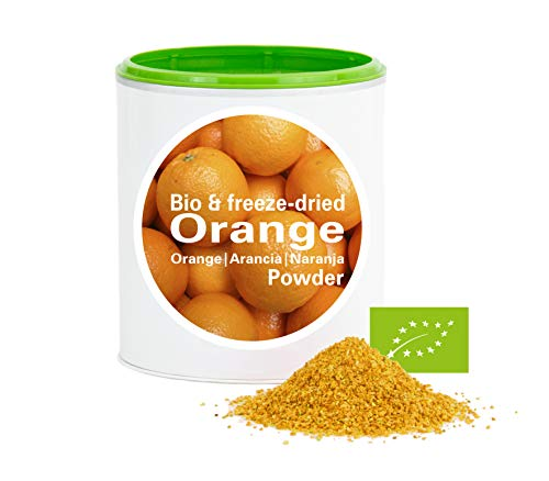 Orange en poudre - Lyophilisées|biologique|végan|crue|pure fruits|sans additives|riches en vitamins|Good Nutritions 120g de Good-Nutrition