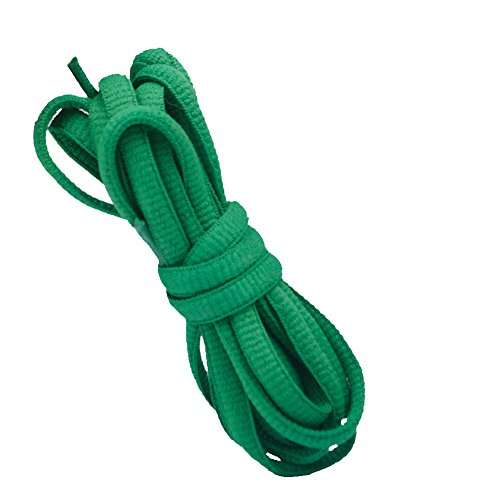 Good.news Lacets Plats, Lacets Ovales, Lacets de Chaussure Vert 160cm de Good.news