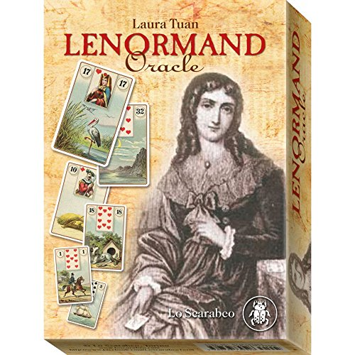 Lenormand Oracle par Laura Tuan, 36 Cartes de Divination avec Instruction en Anglais et Boîte de Rangement de Green Cross Toad