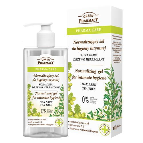 Green Pharmacy Natural Intimate Hygiene Normalising Gel Oak Bark Tea Tree 300ml de Green Pharmacy