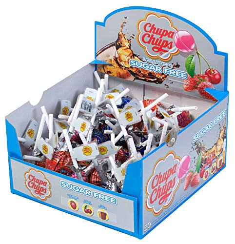 50 x Chupa Chups Sugar Free Lolly Assorted Flavours de Grocery Centre