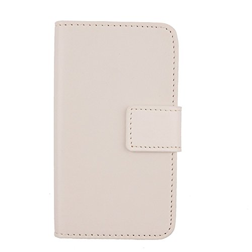 "Gukas Housse Coque Pour Alcatel Pop 4 7070X 4G 6"" PU Leather Cuir Etui Case Cover Flip Protection Portefeuille Wallet Blanc de Gukas"