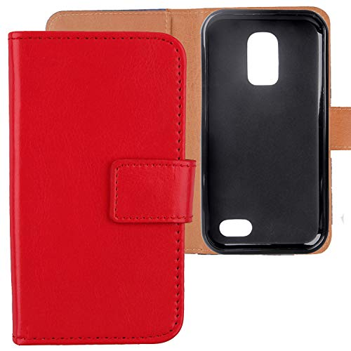 "Gukas Housse Coque Pour Doro Liberto 8031 4.5"" PU Leather Cuir Etui Case Cover Flip Protection Portefeuille Wallet Rouge de Gukas"