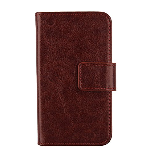 "Gukas Housse Coque Pour SFR Starshine 5 4"" PU Leather Cuir Etui Case Cover Flip Protection Portefeuille Wallet Brun de Gukas"