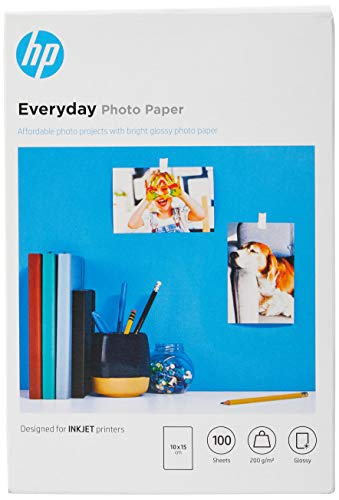 HP CR757A Papier photo 100 feuilles 200 g 10 x 15 cm Brillant de HP