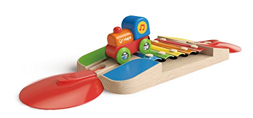 Hape - E3813 - Circuit de Train en Bois - Rail Xylophone de Hape International