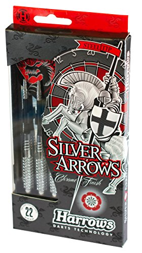 Harrows Eric Bristow Silver Arrows Fléchettes Argent/Noir 22 g de Harrows