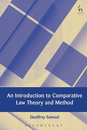 An Introduction to Comparative Law Theory and Method de Hart Publishing
