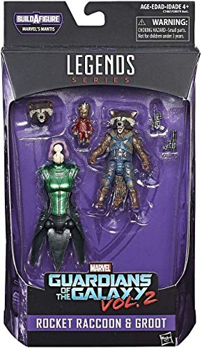 ROCKET RACCOON ET GROOT MARVEL LEGENDS SERIES MANTIS GUARDIANS OF THE GALAXY VOL 2 ACTION FIGURE de Hasbro Toys