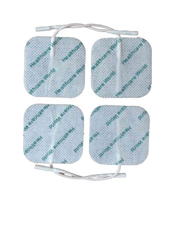 Healthcare World Reusable TENS Electrode Pads 5 cm x 5 cm by Healthcare World de Healthcare World