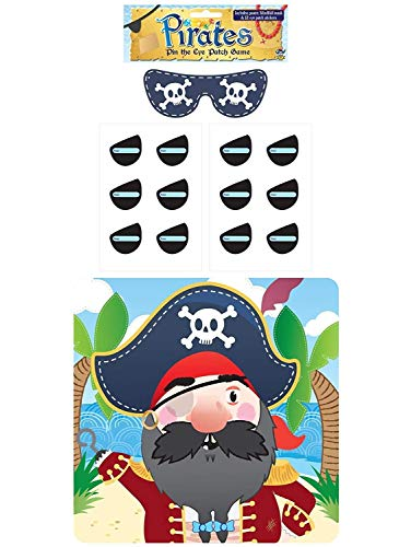 (1-Pack, Multi) - Henbrandt Stick The Eye Patch On The Pirate Game - Party Childrens Kids Pin Tail Activity de Henbrandt