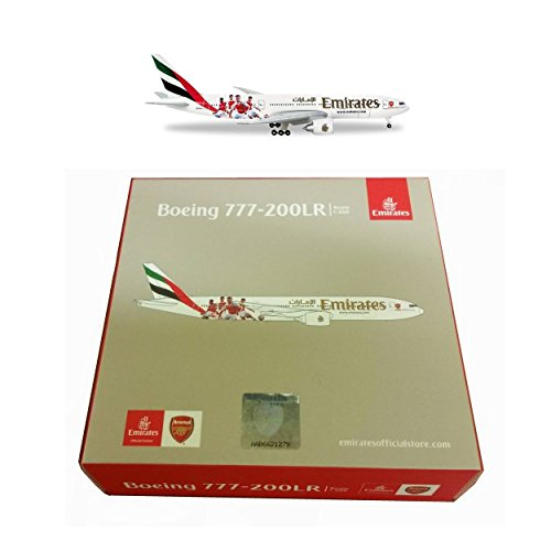 Maquette BOEING 777-200LR Emirates Equipe de Football d'ARSENAL LONDON 1/500 de Herpa