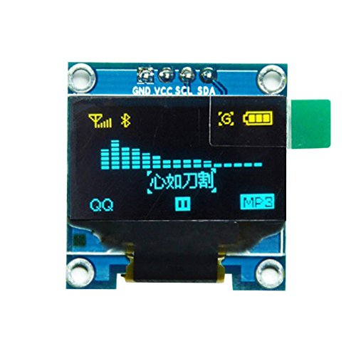 "HiLetgo 0.96"" SSD1306 I2C IIC OLED LCD Display 128X64 OLED for 51 STM34 Arduino Raspberry Pi Yellow Blue Font de HiLetgo"