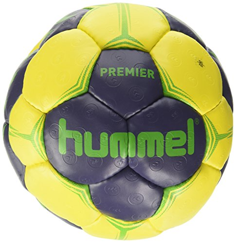 Hummel Premier Handball Balle Mixte Adulte, Blue/Yellow/Green, 2 de Hummel