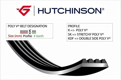 HUTCHINSON 985 K 6 Courroie Poly-V de Hutchinson