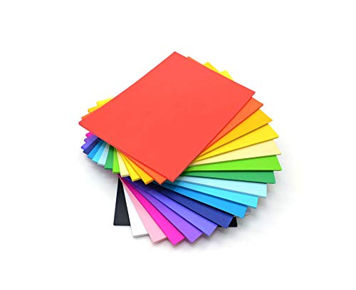 IC CI 31,5 x 22 x 5 cm 80 g/m² 500 Papier Couleur A4 Stack, Multicolore de IC