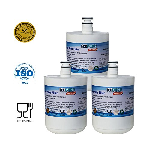 3 Pack IcePure RFC0100A Best Premium Replacement Refrigerator Water Filter Cartridge LG 5231ja2002a LT500P Water Sentinel WSL 1 de ICEPURE