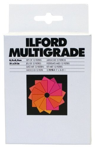 Ilford 1762628 – Set DE 12 filtres (8.9 x 8.9) Couleur Blanc de Ilford