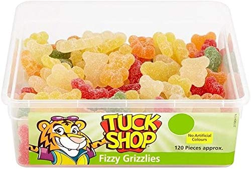 Tuck Shop Fizzy Grizzlies Tub Rétros enfants Sweets-120, les