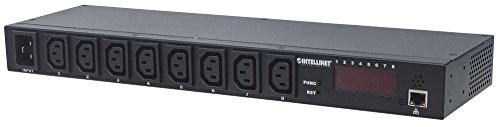 Intellinet Barre multiprise 48,2 cm 8 Prises IP Smart PDU C13/C20 Noir de Intellinet