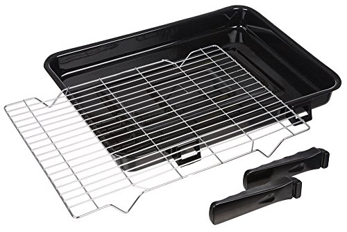 InveroÃ'® Universal Large Vitreous Enamelled Oven Cooker Grill Pan Tray with Steel Wire Rack and 2x Detachable Handles Suitable for Most Oven Cookers - 420mm x 300mm by InveroÃ'® de InveroÃ'®