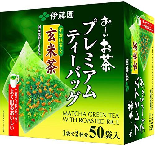 Itoen Premium Tee Bag Genmai Tea 1.8g - 50 peace - Green Tea - (Pack Type) de itoen