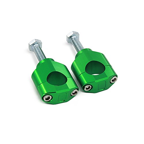 "JFG Racing 1 1/8""28MM Support de Fixation pour Montage sur Guidon - Kawasaki KX125 06-08 / KX250 05-08 / KXF250 05-18 / KXF450 06-18 - Vert de JFGRACING"