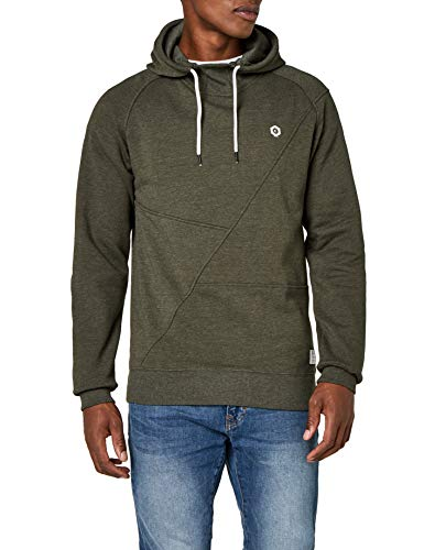 Jack & Jones Jcopinn Hood Noos, Sweat-Shirt à Capuche Homme, Vert (Rosin Fit:/Mel/Reg Fit), Large de Jack & Jones