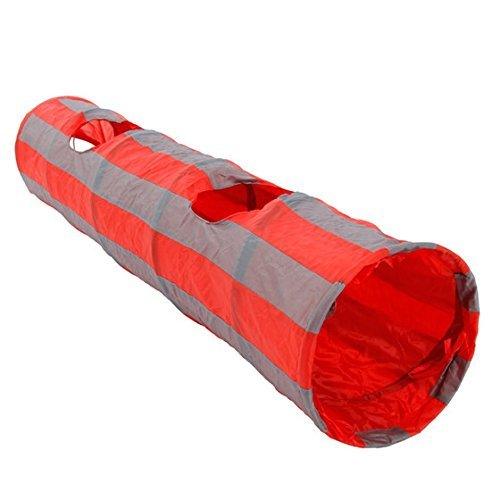 Jdon-pet, Jouets pour animaux de compagnie Tube pour chat Tube pour chien Trompette pour chat (Color : Red+Grey, Size : 1 Way 2 Hole) de Jdon-pet,