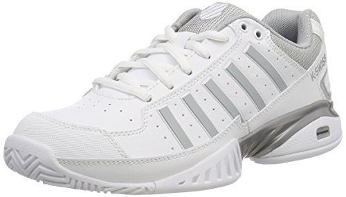 K-Swiss Performance Express 100 M, Chaussures de Tennis homme - Blanc - White/Black/Silver/Fiery Red, 40