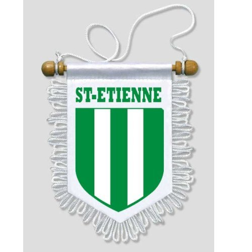 Fanion Voiture Saint-Etienne - 13 x 15 cm - Blason Ecusson Football de KOO Interactive