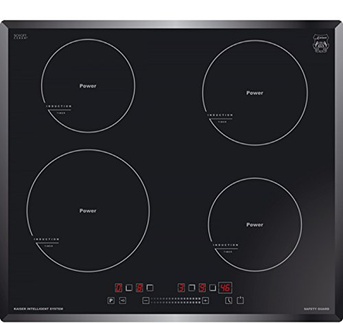Kaiser KCT 6705 Plaque à induction 60 cm/four encastrable 4 Quick Heat zones/verre céramique Plaque de cuisson à induction avec Power Booster/Jeux de German Brand Award 2017-2018 de Kaiser Naturfellprodukte