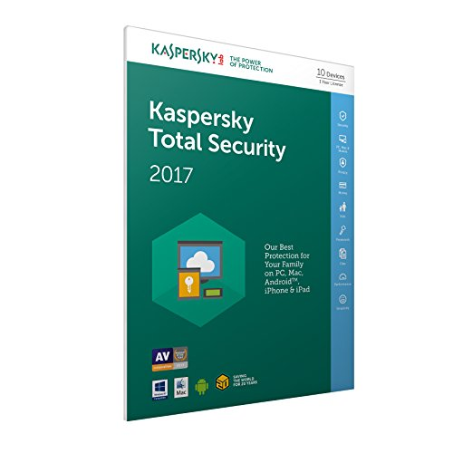 Kaspersky Total Security 2017 - 10 Devices, 1 Year, FFP (PC/Mac/Android) de Kaspersky Lab
