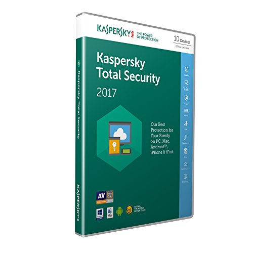 Kaspersky Total Security 2017 - 10 Devices, 1 Year, Retail Box (PC/Mac/Android) de Kaspersky Lab