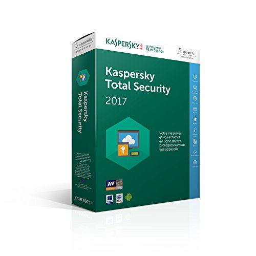 """Kaspersky Total Security 2017 (5 postes, 1 an)"" de Kaspersky"