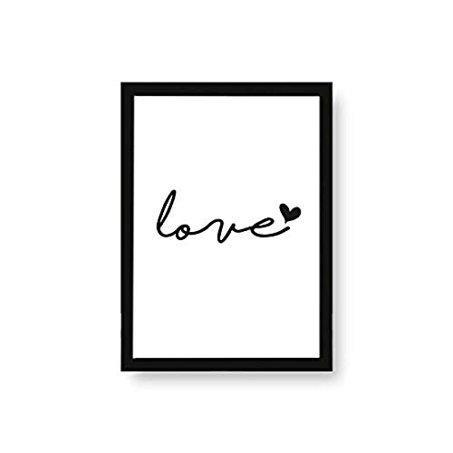 Kenay Home Carte Inscription Love Art décoratif A3 Noir/Blanc de Kenay Home