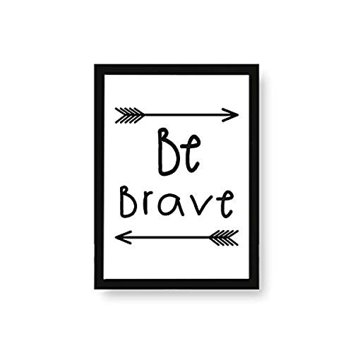 Kenay Home Lame Be Brave A4, Papier, Blanc et Noir, 210 x 297 mm de Kenay Home