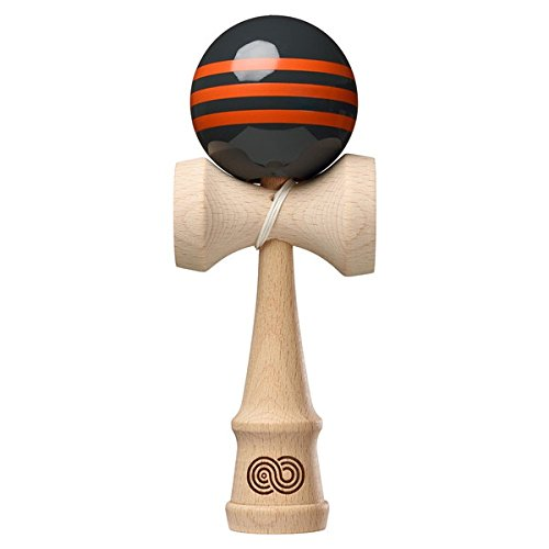 Extrémités Triple Stripe – Gris anthracite avec rayures orange Triple – Brillant de Kendama USA