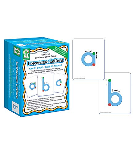 Lowercase Letters Textured Touch and Trace Cards de Carson Dellosa