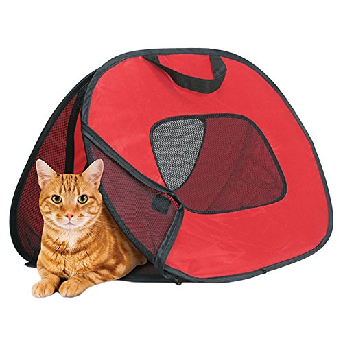 Kicode Pliant Portable Sac de transport de chien de chat d'animal familier Sac à main Voyage en plein air Pop ouvert ventilé Les transporteurs pour les petits chiens et les chats de Kicode