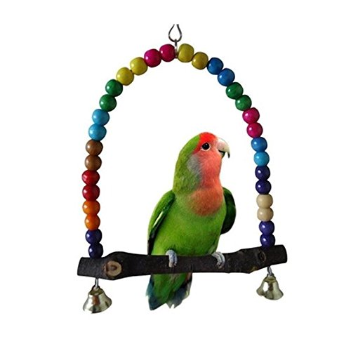 Kicode Swing en bois coloré Jouet d'oiseaux Parrot Cage Finch Parakeet Cockatiel Lovebird Budgie Conure Perches Pet Supplier de Kicode