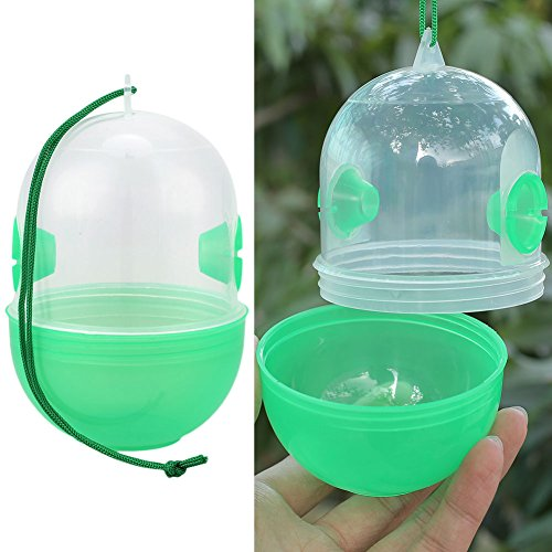 Kicode Trappe de guêpe non toxique en plastique exempt de parasites Repelant antiparasitaire Bee Catcher Honey Pot Use pour la ferme Garden Yard de Kicode