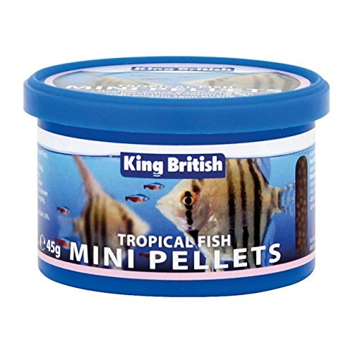 Roi Britannique Poissons Tropicaux Mini-Pastilles 45G (Lot de 2) de King British