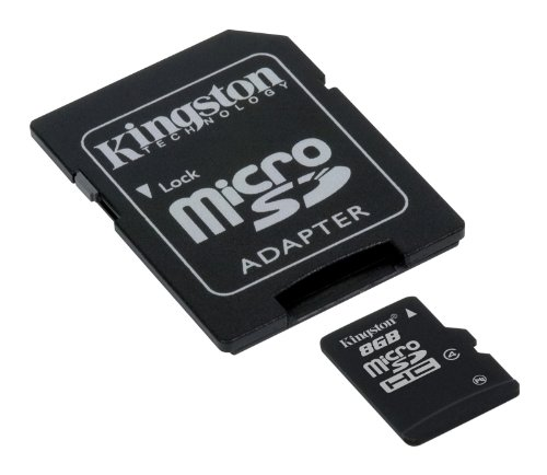 Kingston - SFKINSDG893 - Carte Micro SDHC 8 Go (Classe 4) - Adaptateur SD de Kingston Technology