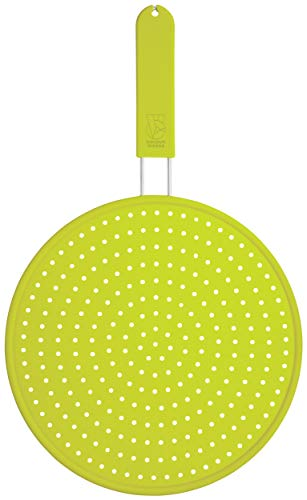 Kitchen Craft Colourworks Silicone Splatter Guard, Green, 28cm de Kitchen Craft
