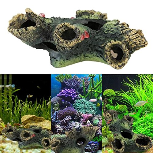 Aquarium DéCoration Ruine Kolylong Accueil Doux Plantes Artificielles Aquatique Fish Tank Decoration de Kolylong