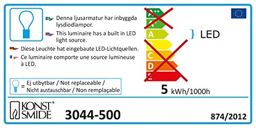 Konstsmide 3044-500 LED Tube Lumineux Multicolores 230 V 6 m de Konstsmide