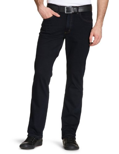 Lee - Brooklyn Stretch - Jeans droit - Homme - Bleu (Black - Blue Black) - W33/L34 de LEE